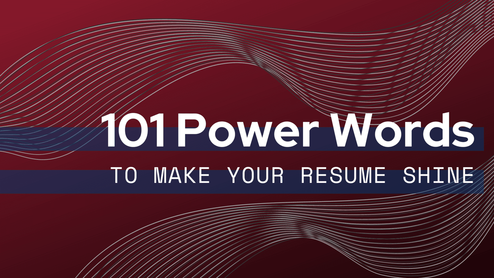 101 power words to make your resume shine