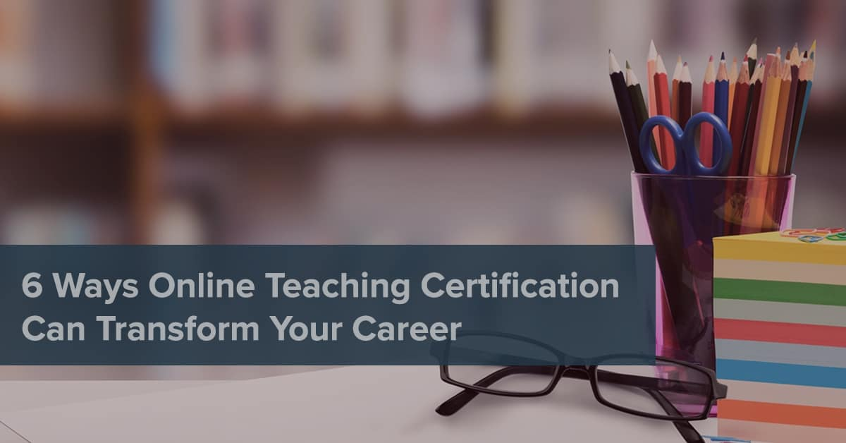 Online teaching certification
