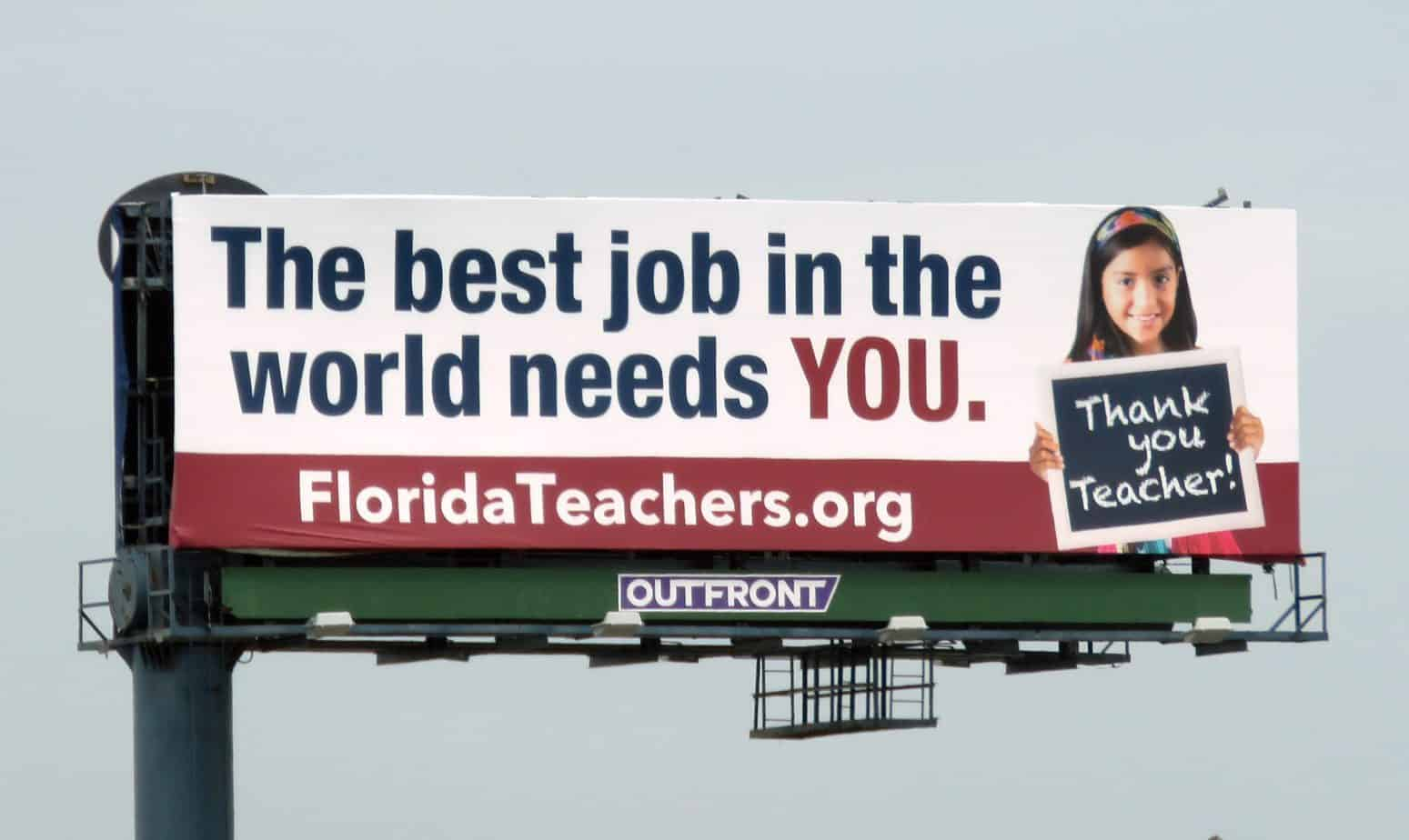 Florida Teachers Billboard
